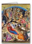 Nativity of Christ Icon V Greeting Card