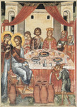 "Wedding at Cana Icon: 16 x 20"" Wood Framed Metallic Print *Special Edition*"