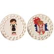 DUAL SIDED Personalized Ceramic Ornament: Kosovo/Serbian Girl Dancer Design- ANY LANGUAGE!
