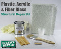 Plastic, Acrylic and Fiberglass Structural Repair Kit