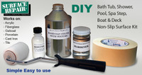 Bath Tub and Shower Non-Slip / Non-Skid Application Kit for Acrylic, Gelcoat, Porcelain, Cast Iron, Tile and Fiberglass, slip resistant treatment