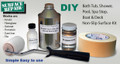 Do-it-Yourself Bath Tub and Shower Non-Slip / Non-Skid Application Kit for Acrylic, Gelcoat, Porcelain, Cast Iron, Tile and other Fiberglass