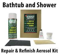 Bath tub shower other fiberglass and porcelain aerosol repair kit