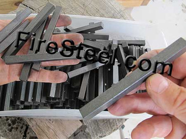 The FireSteel.com Square FireSteel series includes the 3/8 x 3/8 x 4-inch FireSteel