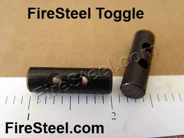 FireSteel Toggles are a great addition to any gear because you can use them  to start a fire!