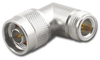 N Male Female Right Angle Coaxial Adapter