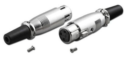 Pan-Pacific - 3-Pin XLR Microphone Connector X Series Female Mic Plug