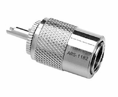 PL-259 UHF-Male Silver Teflon Coaxial Connector for RG-8, RG-213, LMR400