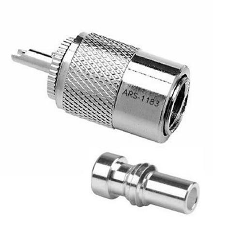 PL-259 / UG-175 Silver Teflon Coaxial Connector for RG-58