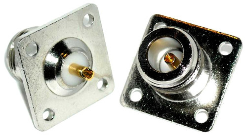 OPEK AT-7317 - N-Female 4-Hole Panel Mount Coaxial Connector