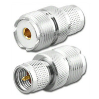 Mini-UHF-Male to UHF-Female Coaxial Adapter Connector