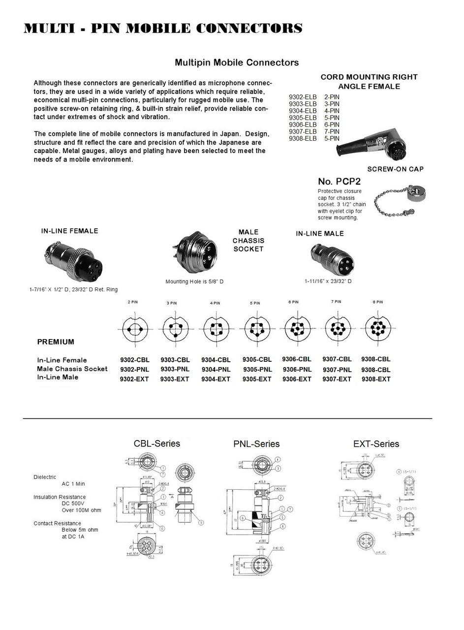 4-Pin - Ham & CB Radio Microphone Connector - Right Angle ...