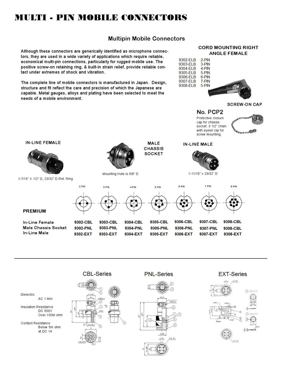 5 Pin Cb Mic Wiring Diagram Simple Options Gl1500 Cobra Library Xlr 4 Ham