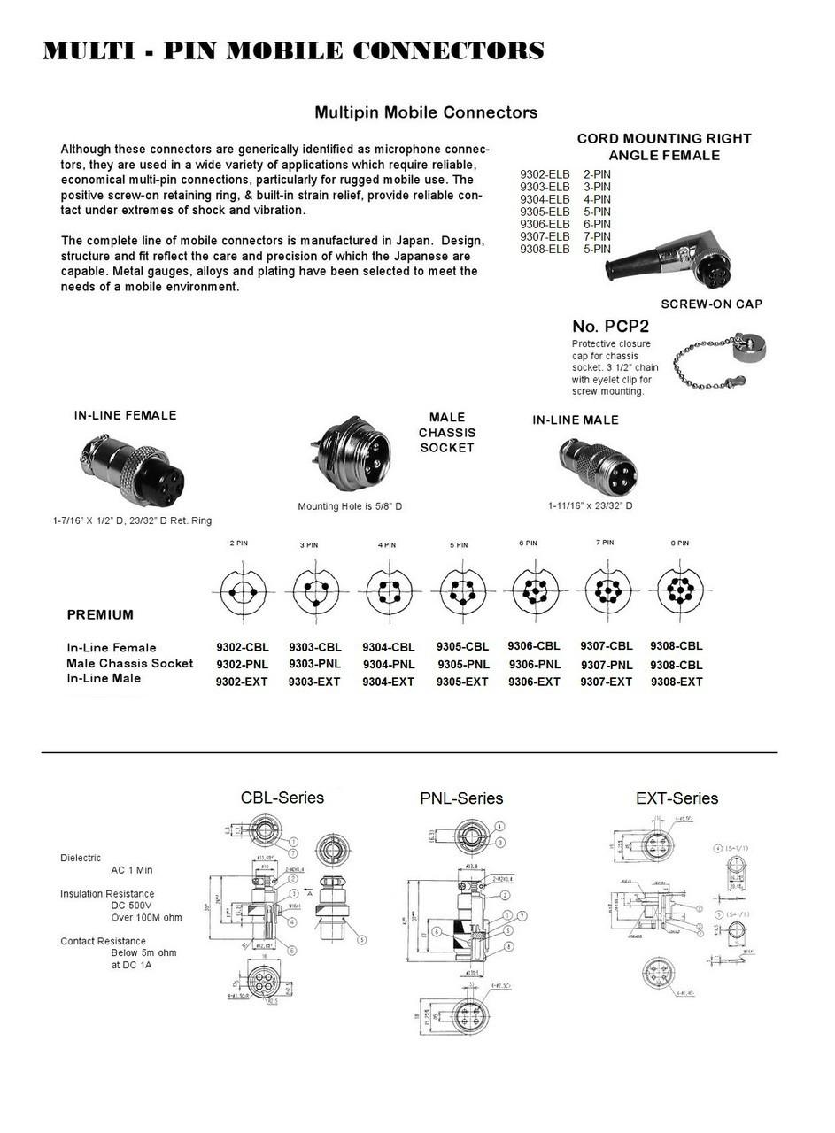 4 Pin Microphone Connector Wiring Diagram Electrical Diagrams 6 Cb Ham Radio Ars 9304 Cbl Pair