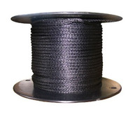 American Radio Supply - 1/8-Inch Polyester Rope Black - 100-Feet