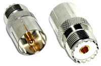 UHF Male / Female Push-On Quick Coaxial Adapter Connector
