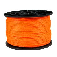 American Radio Supply - 1/8-Inch Polyester Rope Orange - 50-Feet