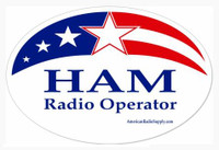 HAM Radio Sticker - Patriotic Red White Blue - American Radio Supply