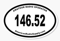 HAM Radio Sticker 146.52 MHz Simplex - American Radio Supply 4-Inch Oval