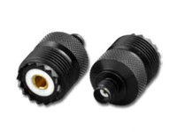 SMA-Female to UHF-Female Coaxial Adapter Connector - Black