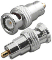 BNC-Male to RCA-Male Plug Coaxial Adapter - G055