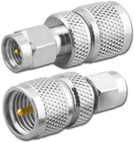 Mini-UHF-Male to SMA-Male Coaxial Adapter (RFA-8284)