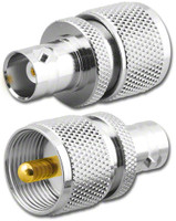 BNC-Female to UHF-Male PL-259 Coaxial Adapter RFA-8312