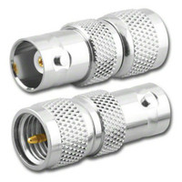 BNC-Female to Mini-UHF-Male Coaxial Adapter (RFA-8322)