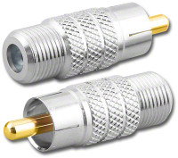 F-Female to RCA-Male Plug Coaxial Adapter (RFA-8792)
