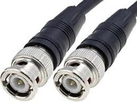 50-Foot RG-58 Black Molded BNC Stranded Center Conductor Coaxial Cable