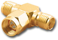 SMA Female Male Female Tee Coaxial Adapter T (SMA-2594)