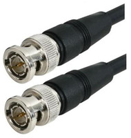 1-FT - RG-59 Black Molded BNC Stranded Center Conductor Coaxial Cable