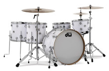 DW Collector Series Custom Drum Set White Glass In Stock