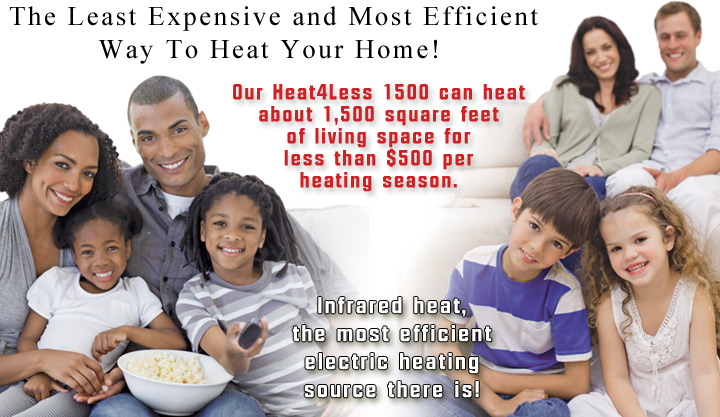 Heat4Less Infrared Heaters Save You Money!