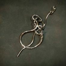 Wild Grape Tendril Shawl Pin includes stick and ring