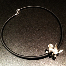Large Pewter Lumbar Vertebra Necklace