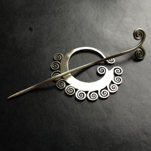 Coil Shawl Pin