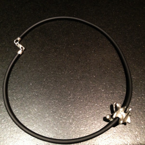 Medium Pewter Lumbar Vertebra Necklace