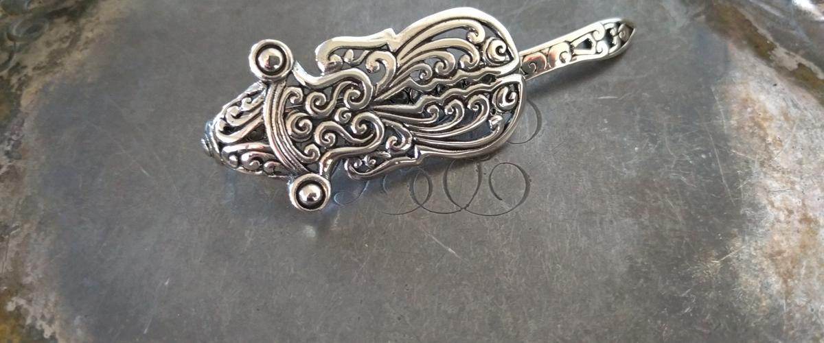 Baroque Beetle Shawl Pin Banner