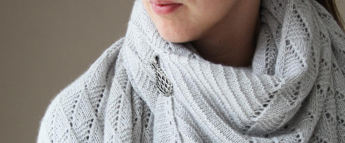 shawl with pin