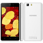 "doogee x5 mtk6580 1.5ghz quad core 5"" hd screen white android 5.1 3g smartphone"
