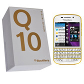 NEW BLACKBERRY Q10 16GB (WHITE-GOLD) UNLOCKED 2 GB RAM 4G WITH A-GPS SMARTPHONE