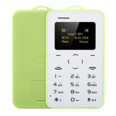 aeku c6 green card 4.8mm ultra thin pocket mini slim card mobile phone