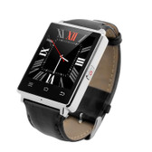 UNLOCKED NO.1 D6 1GB RAM 8GB ROM QUAD CORE ANDROID 5.1 3G SILVER SMART WATCH