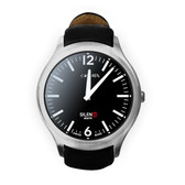 UNLOCKED NO.1 D5 MTK6572 512 RAM 4GB ROM 450MAH ANDROID 4.4 SILVER SMART WATCH