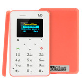 aeku m5 pink 4.5mm ultra thin micro sim gsm card mobile phone