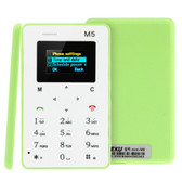 aeku m5 green 4.5mm ultra thin micro sim gsm card mobile phone