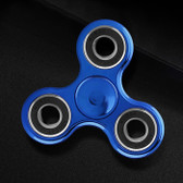 NEW HAND SPINNER GLOWING BLUE TRI-SPINNER EDC FIDGET LUMINOUS PLASTIC ADHD TOYS