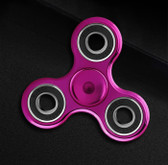 NEW HAND SPINNER GLOWING PINK TRI-SPINNER EDC FIDGET LUMINOUS PLASTIC ADHD TOYS