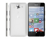 "NEW MICROSOFT LUMIA 950 3GB/32GB WHITE HEXA CORE 5.2"" HD SCREEN MICROSOFT WINDOWS 10 4G LTE SMARTPHONE"